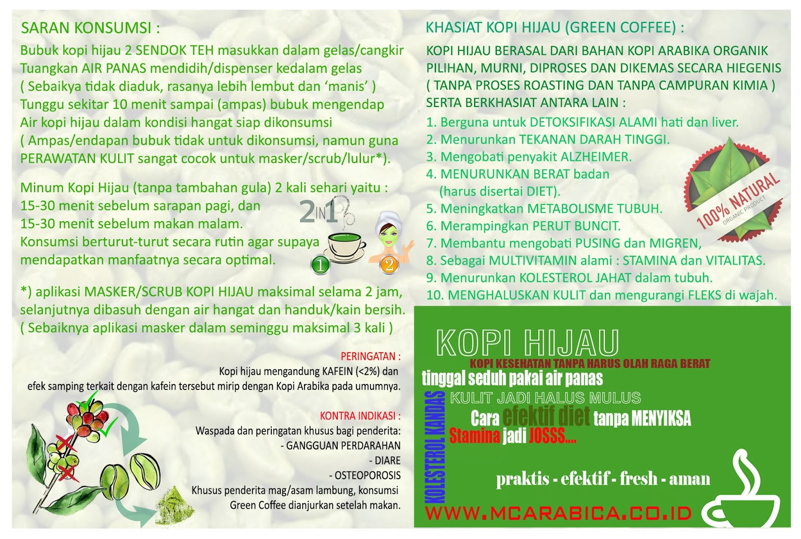 Harga Kopi Hijau Kopiku Green Coffee Siap Minum Cuma Rp 60 Ribu Pack Premium Atau 80 Special 100 Kg Super Per 250gr Untuk 15