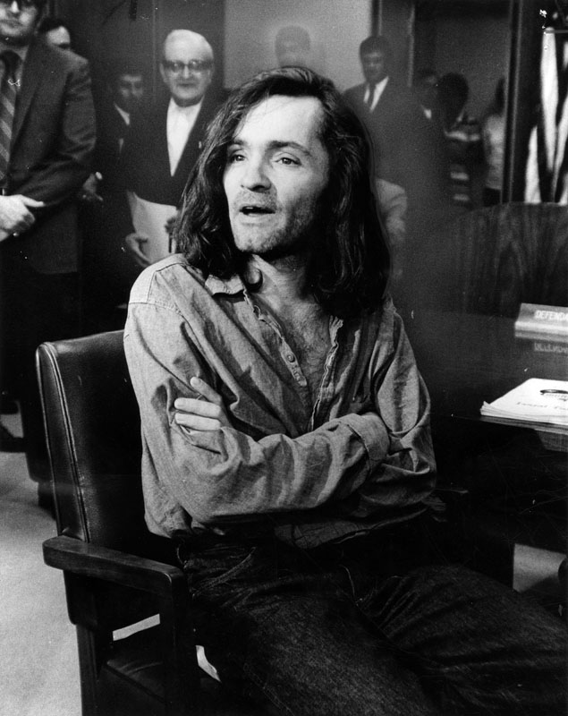 Murder Trial Photos of Charles Manson and the Manson