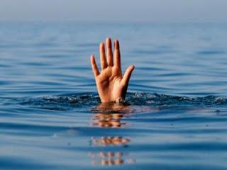 غار الملح طفلين ، اخ و اخته، يبلغان من العمر 6 و 8 سنوات توفيا غرقا