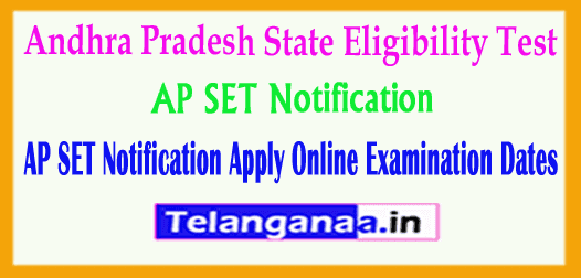 AP SET Notification 2019 Andhra Pradesh State Eligibility Test 2019 Apply Online Exam Dates