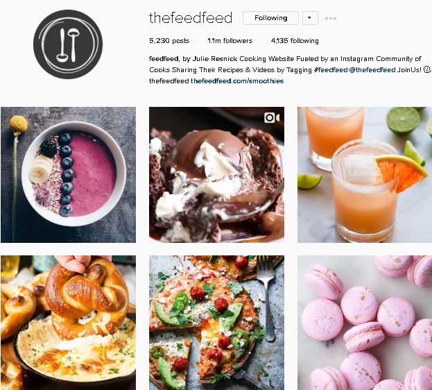 Seven instagram accounts you should be following in 2017 social a mixture of colourful photographs and close up short videos of delicious dishes being made this account is forumfinder Image collections