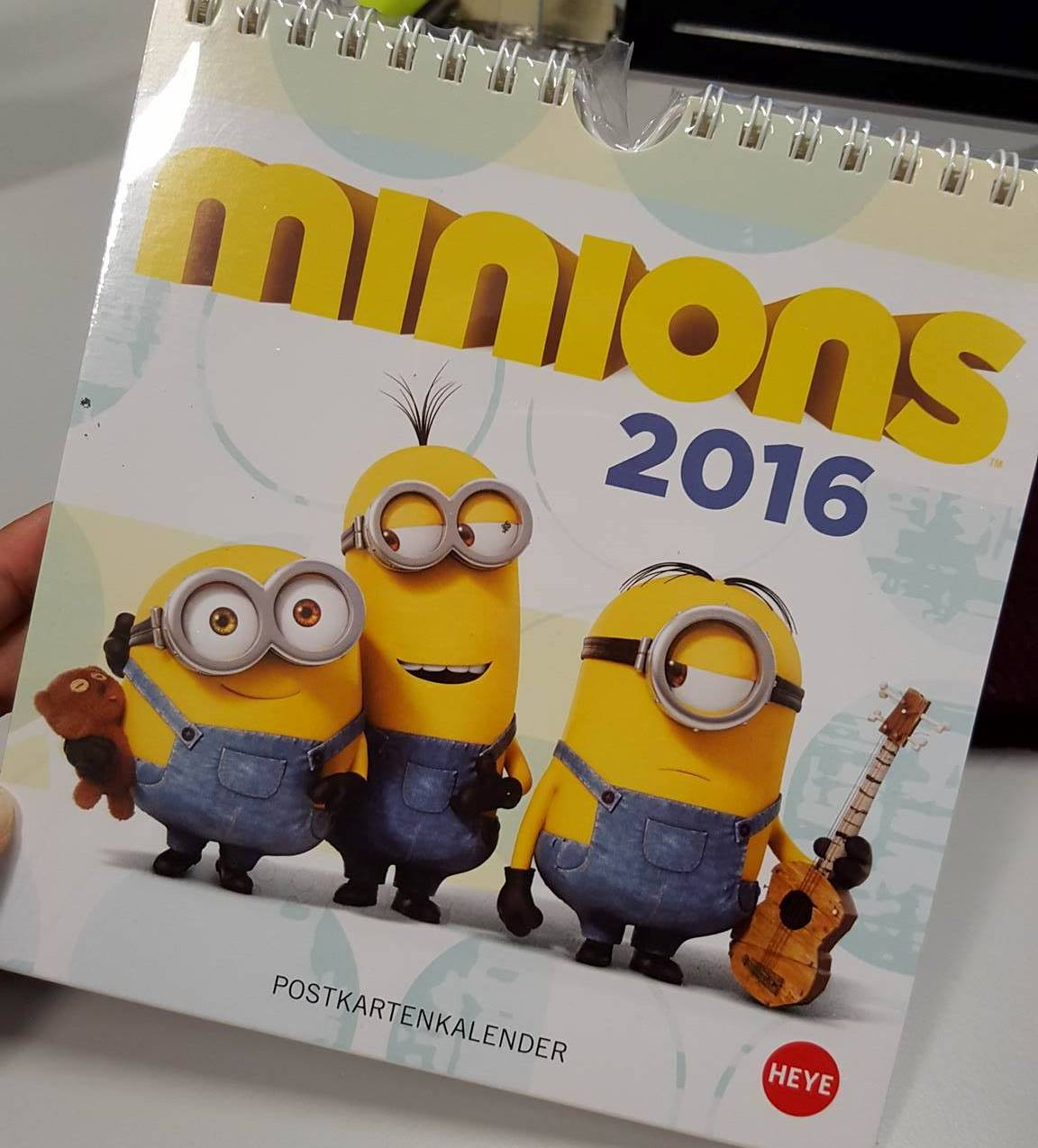 Giveaway Kalendar Minions + Buku Travelog by JINDRISSKA