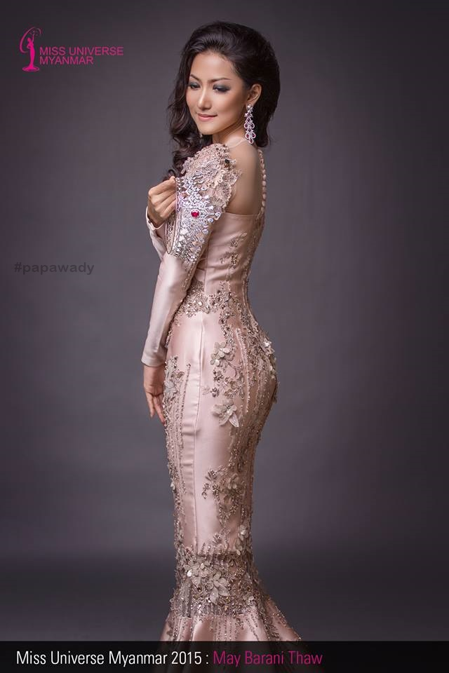 Miss Universe Myanmar 2015 May Barani Thaw In Beautiful Dress and Suim Suit Fashion