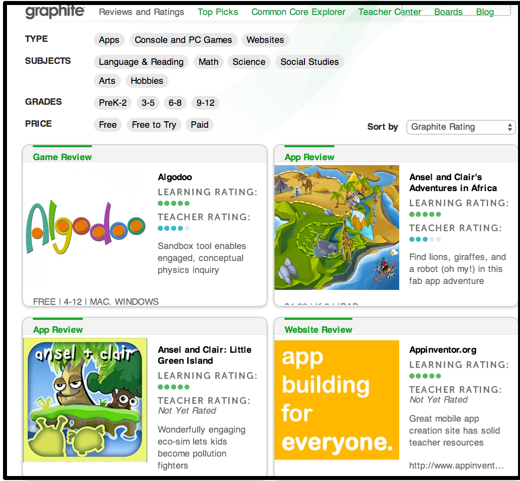 A Must Have Resource for Finding Educational Sites, Apps and