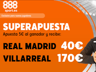 888sport superapuesta liga Real Madrid vs Villareal 5 mayo 2019