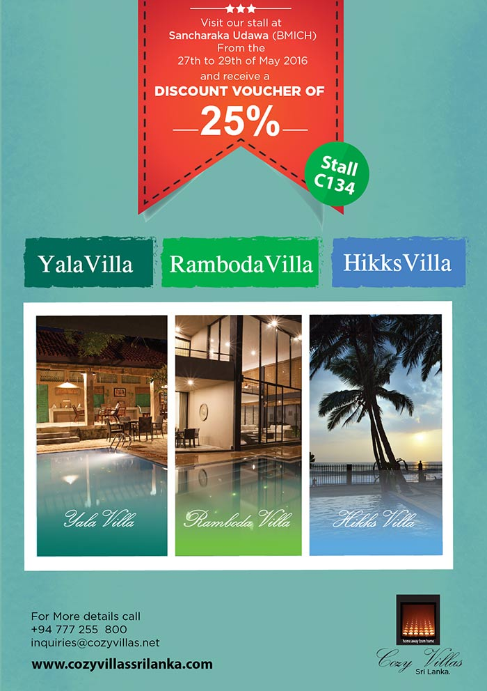 "We manage 03 private villas in Sri Lanka. Our villas are located in Hikkaduwa, Yala and Ramboda. These villas are centrally located making it easy for you to plan your holiday covering key attractions unique to these locations. We provide our clients a ""home away from home"" feeling."