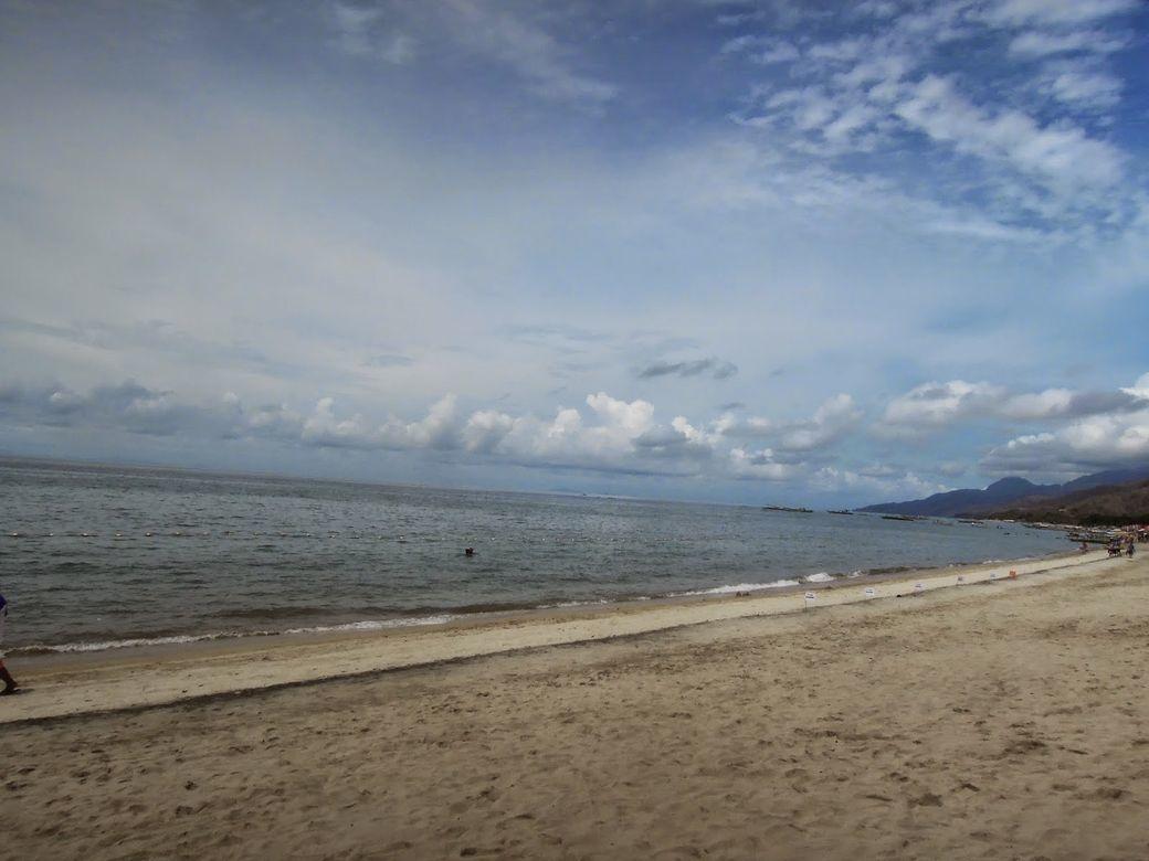 Strip of beach at Laiya Coco Grove Beach Resort