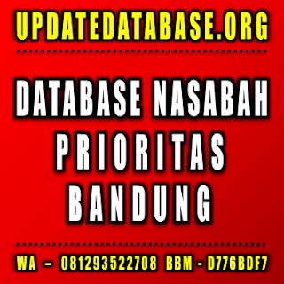 Jual Database Nasabah Prioritas Bandung