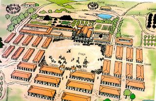 Mapa Esquemático de Uma Missão (Redução) Jesuítica