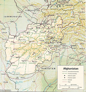 Picture of Afghanistan map in 1993