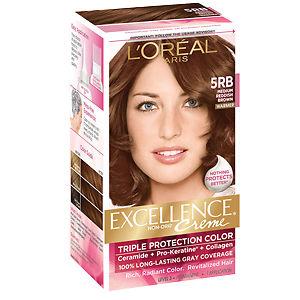 Thuốc nhuộm tóc cao cấp Loreal Excellence Medium Reddish Brown của Mỹ