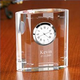 American Bridal Clic Optical Crystal Desk Clock 27 95 Tiffany Co 2 100