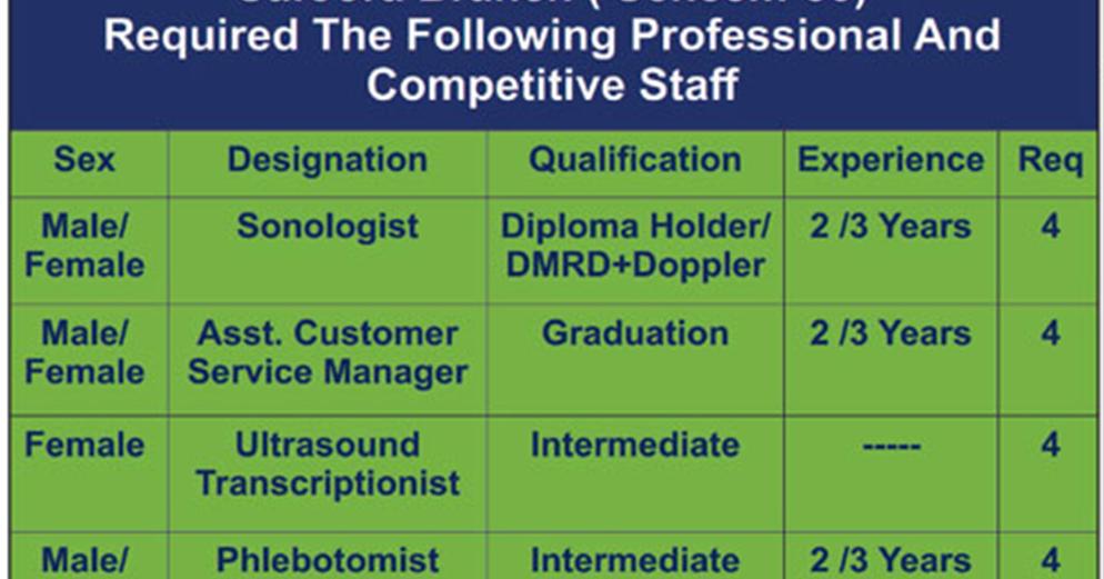 DR  Essa Laboratory And Diagnostic Centre Karachi Jobs - Latest