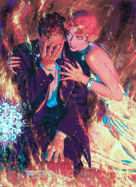 Edwin Georgi illustration flames fire