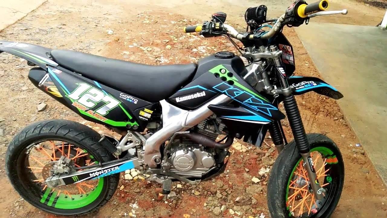 7 Gambar Modifikasi Motor Kawasaki Klx Buat Trabas Adventur Dan