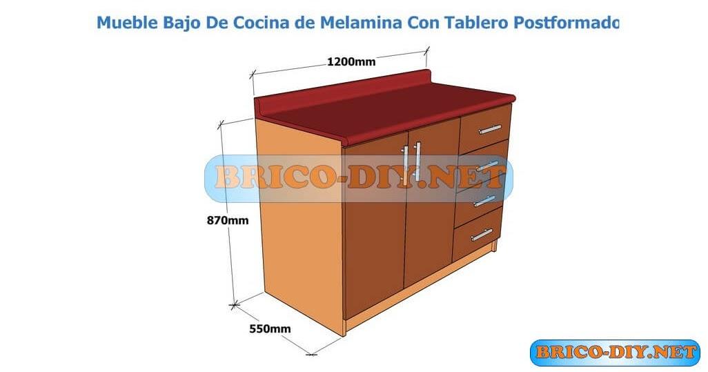 Muebles de cocina bajo mesada hazlo t mismo brico muebles for Modelos de muebles de cocina altos y bajos