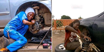 """All What A Man Can Do, A Woman Can Do Better"" - Nigerian Lady Mechanic"