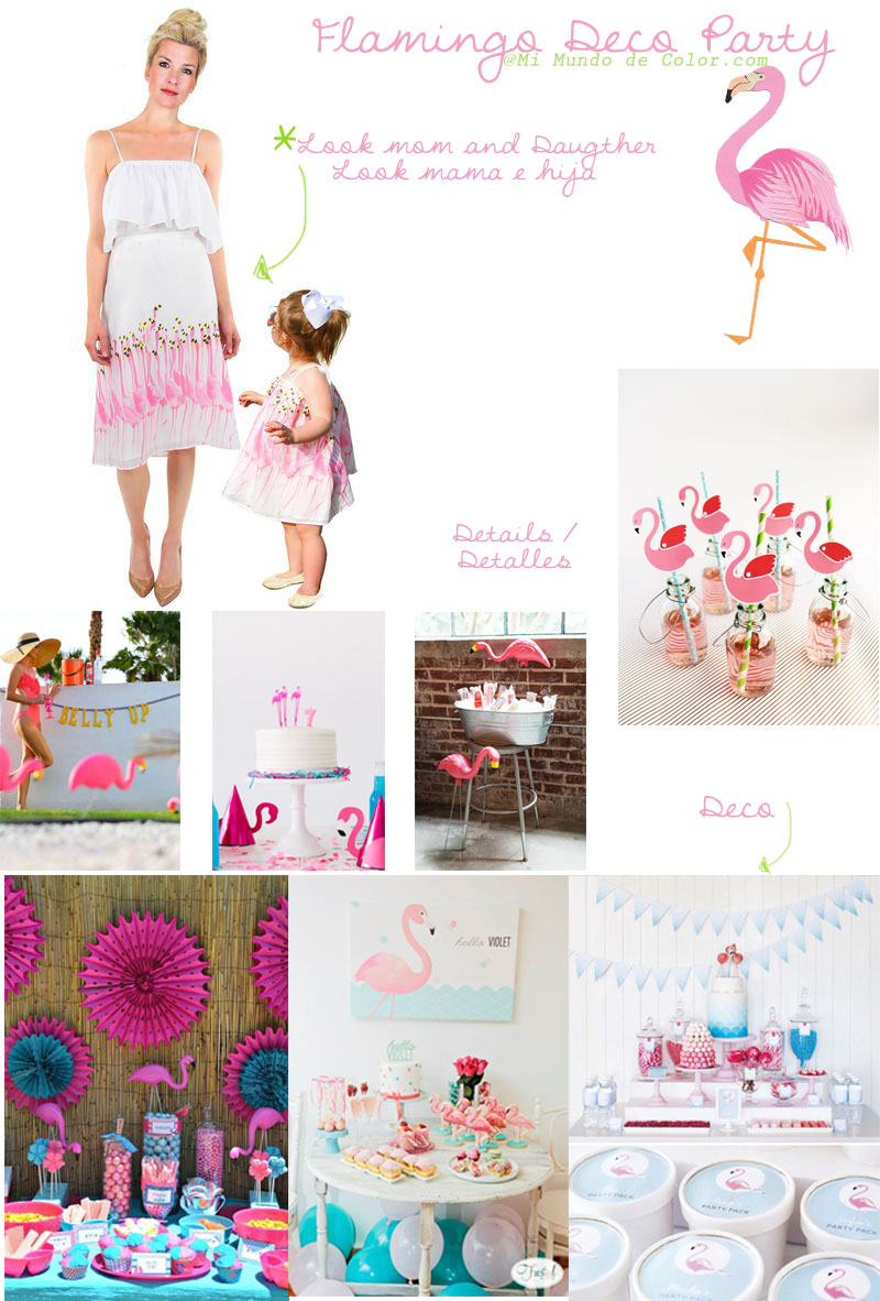 deco parti inspiration flamingos