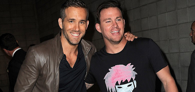 Ryan Reynolds (Deadpool) şi Channing Tatum (Gambit)