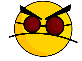 Yellow angry smiley