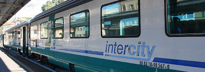 Intercity train in Italy