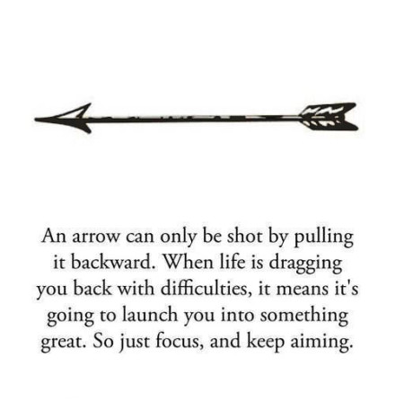 An arrow can only be shot by pulling it backward - QUOTES ...