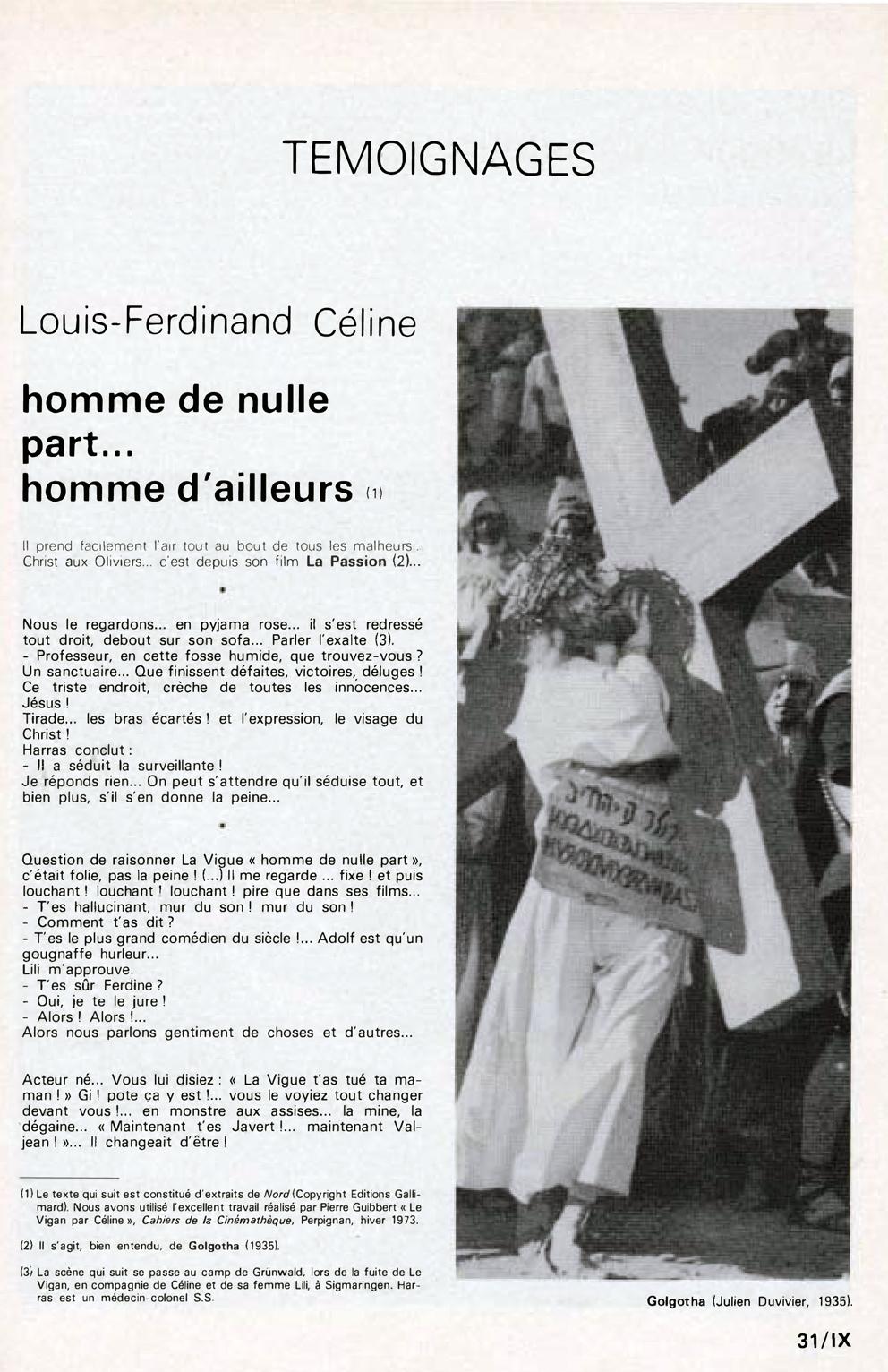 d931f23caf8 In Memoriam Robert Le Vigan vu par Louis-Ferdinand Céline dans L Avant  Scène n° 215 de novembre 1978