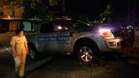 Gia Lai: Truy bắt đối tượng tông xe CSGT khi bị truy đuổi
