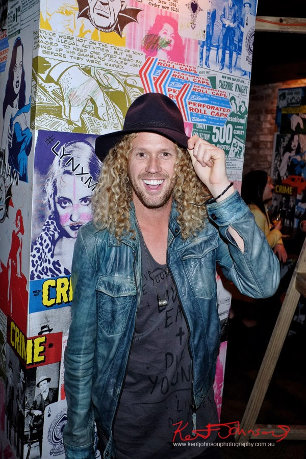 Tim Dormer, mens hats, Lynx #lynxman relaunch party at WIP BAR, Street Fashion Sydney