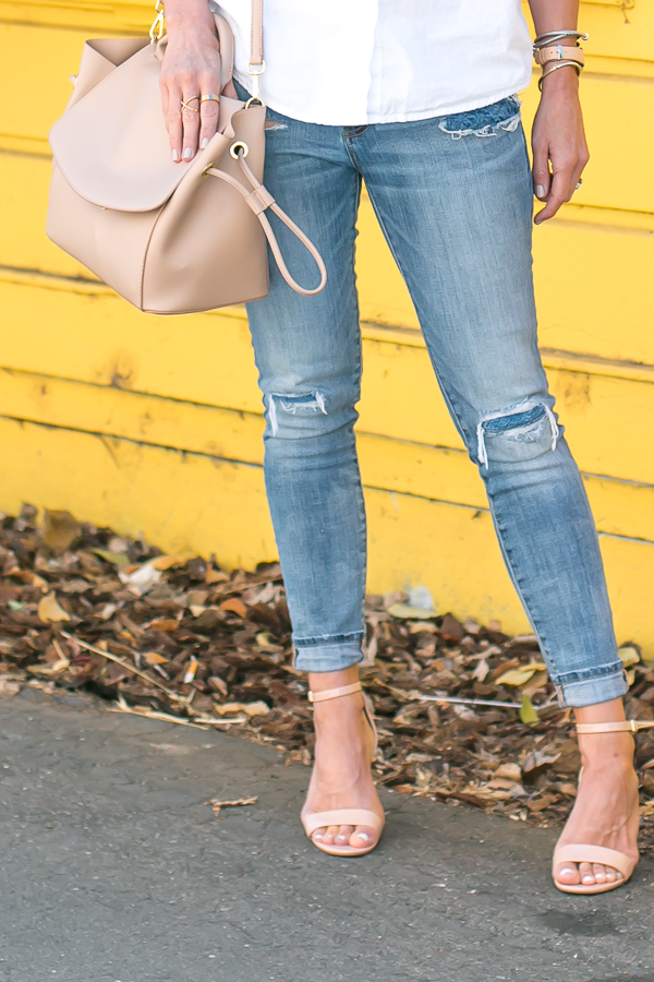 perfect strappy nude heels