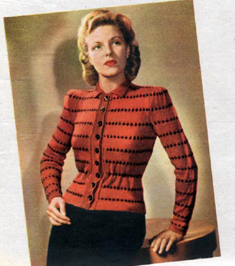 The Vintage Pattern Files: Free 1940's Knitting Pattern - The Two Timer