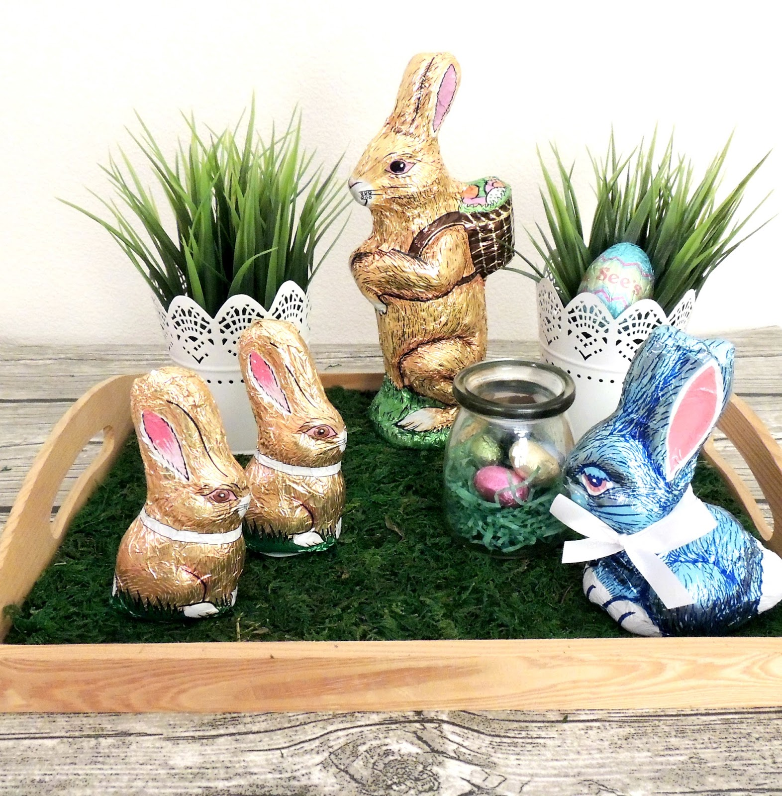 Easter Centerpiece With Sees Candies
