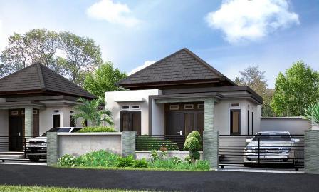 sketsa rumah minimalis tampak depan