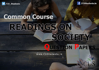 English Common Course  -  Readings on Society - Previous Question Papers