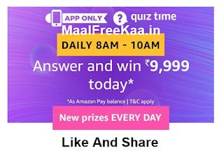 Amazon Rs 9999 Free