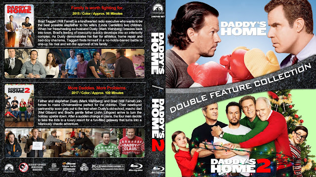 Daddy's Home Double Feature Bluray Cover