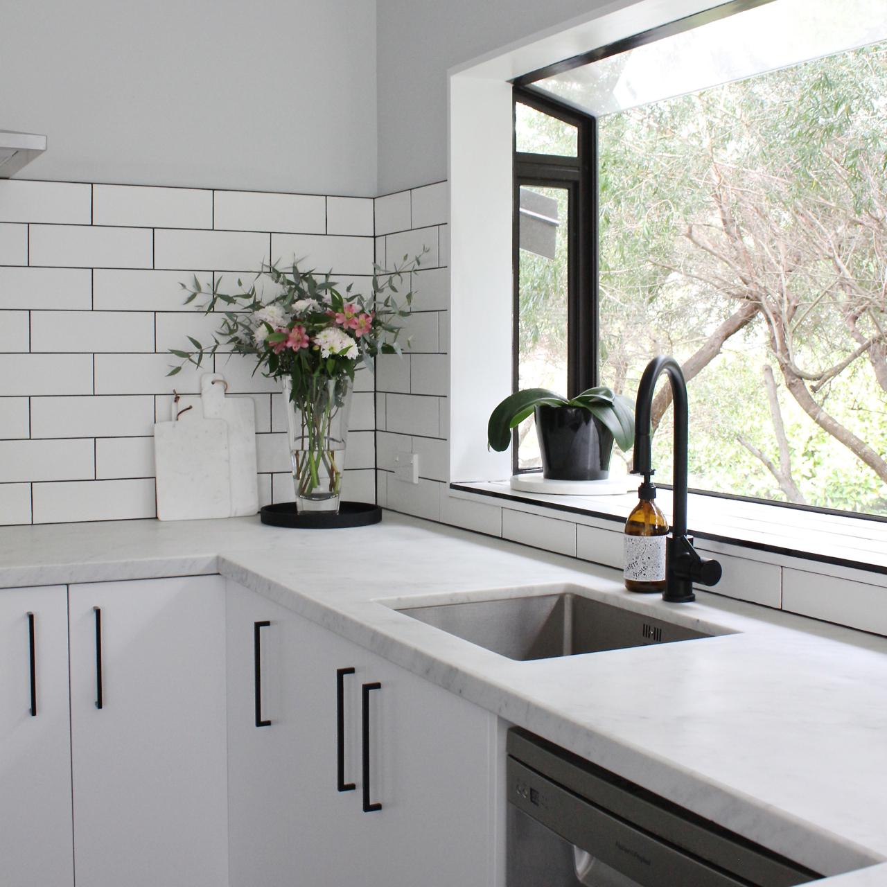 kitchen handles black white lacquer cabinets our reno beau monde mama