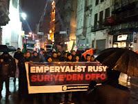 Emperyalist Rusya Suriye'den defol protestosu