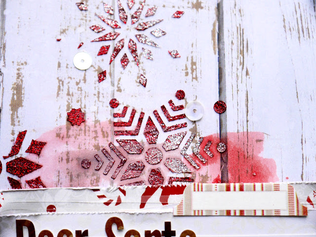 Dear Santa Scrapbook Page by Katherine Sutton using BoBunny Merry and Bright collection