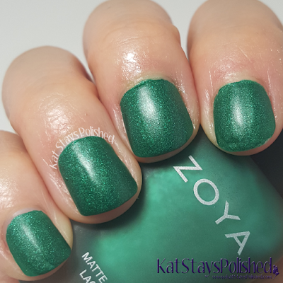 Zoya Matte Velvet 2015 - Honor | Kat Stays Polished