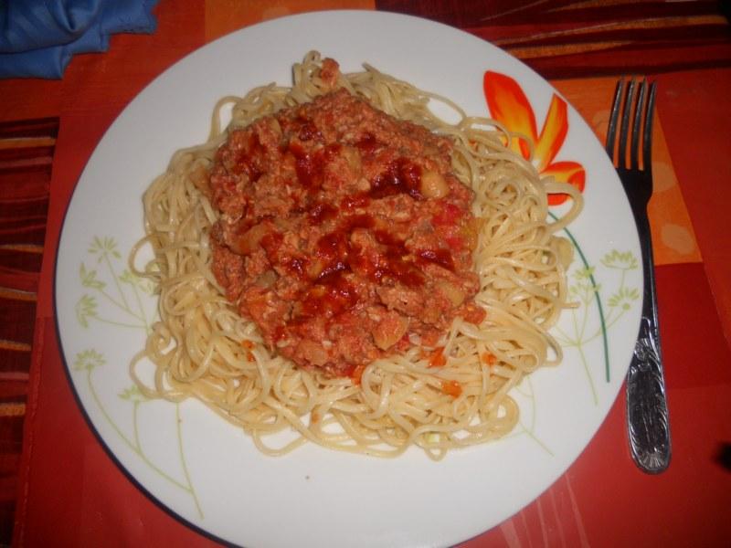 cuisine maghreb spaghetti au thon. Black Bedroom Furniture Sets. Home Design Ideas