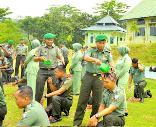 24 Personel Kodim Abdya Naik Pangkat
