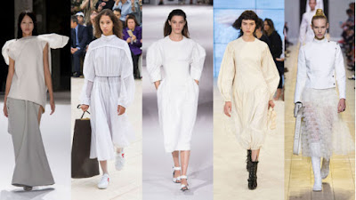 From left: Rick Owens, Celine, Stella McCartney, Loewe and Dior. Photos: Imaxtree