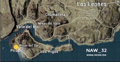 Peta lokasi kondangan di Los Higos, Minas del Sur dan Prison
