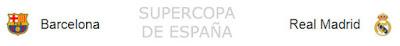 horarios e informacion del partido de supercopa Barcelona-Real Madrid
