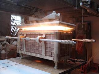 Arca del pacto hecha con madera