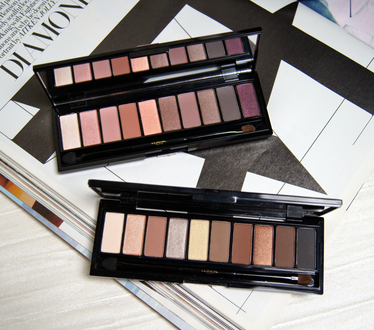 loreal la palette nude rose beige review swatches