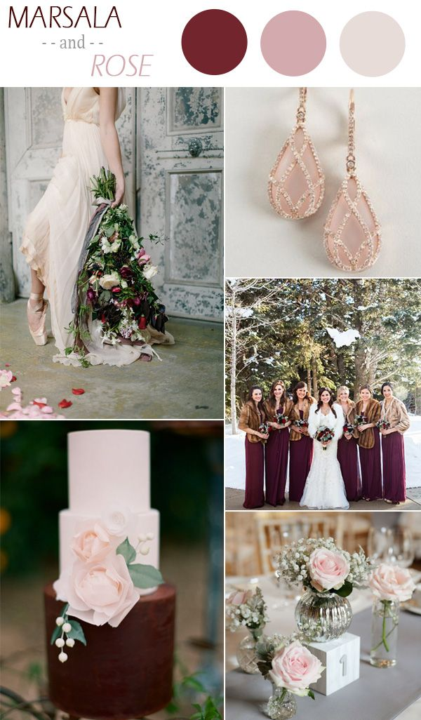 Winter Is The Perfect Season For Those Deep Elegant Hues Here Are Some Of Our Favorite Wedding Color Palettes