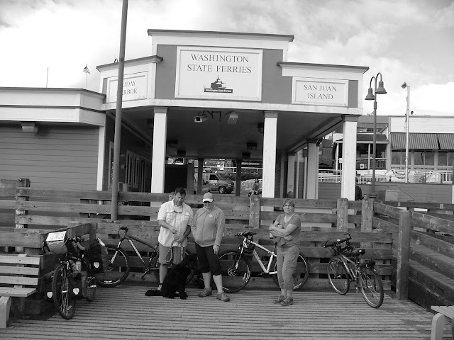 Bicycle waiting area Friday Harbor