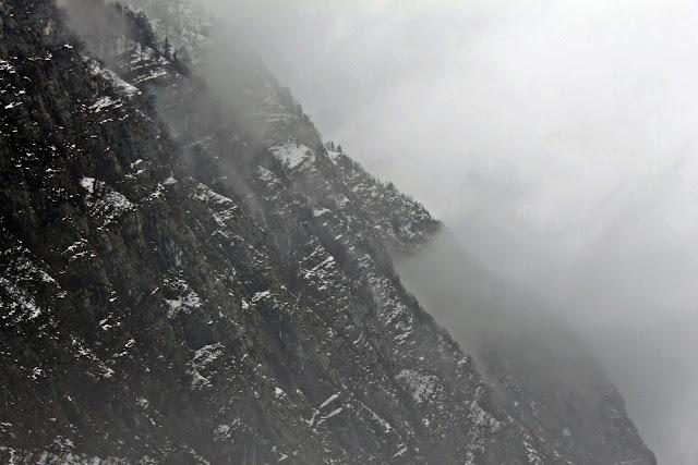 mountain rock smoke monochrome photography